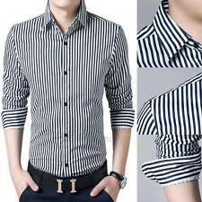 Stylish Mens Casual Button-Down Slim Fit Long Sleeve Casual Formal Dress Shirts