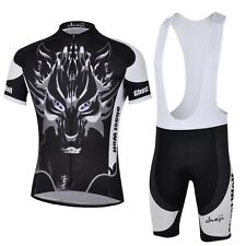 Ghost Wolf Men's Cycling Jersey Set Bike Bicycle Jersey & Bib Shorts Suit S-5XL