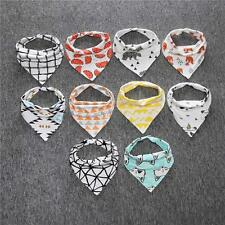 Baby Kids Cotton Bandana Bibs Feeding Saliva Towel Dribble Triangle Lunch Bibs