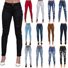 New Womens Ladies High Waist Jeans Stretch Denim Plus Size Pants 14 16 18 20 22