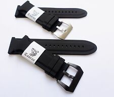 Taurus® 26mm Soft Silicone Diver Watch Band Strap PreV PVD For Panerai 47mm PAM