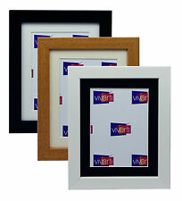 Black White Oak Picture Photo Frame With Mount