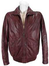 Pierre Cardin Men's  Real Leather Jacket Lamb Nappa wine red new 8443