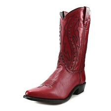 Abilene Boots 9002 Women  Square Toe Leather Red Western Boot