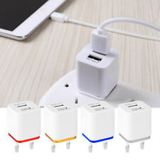 1/2/4 Universal Home Travel AC USB Wall Charger US/EU Plug For iPhone Samsung