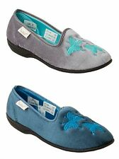WOMENS DR KELLER VELOUR WARM COSY SLIP ON SLIPPERS MULES LADIES UK SIZE 3-8