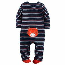 New Carter's Sleep N Play PJs Terry Tiger Applique NWT Newborn 3m 6m 9m Navy