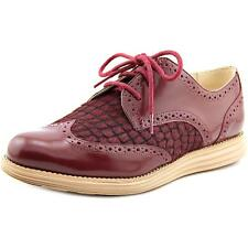 Cole Haan Lunargrand Wing Tip Women  Round Toe Leather Burgundy Oxford