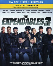 The Expendables 3 (2 Disc, Blu-ray + DVD, Unrated Edition) BLU-RAY NEW