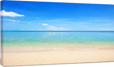 Design Art 'Calm Waves at Tropical Beach' Photographic Print on Wrapped Canvas