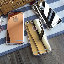 Anti Luxury Ultra-thin Mirror Metal Case Cover for Apple iPhone Models