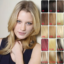Clip In 100% Real Human Hair Extensions Full Head 70g 100g 16clips