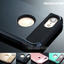 For Apple iPhone 7/7 plus Silicone Rubber Hard Shockproof Hybrid Cover Case Skin
