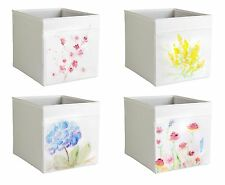 Customized Ikea Drona Storage Box Expedit/Kallax Insert Aquarelle Pastel Flowers