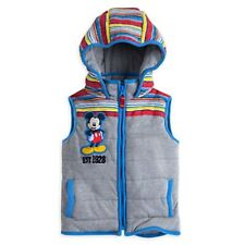 Mickey Mouse Hooded Vest Coat Jacket Disney Store NWT Quilted Design Kid szs 2,3