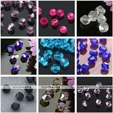 300x Wholesale AB Crystal Glass Faceted Bicone Loose Beads Jewelry Craft 3mm/4mm
