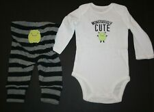 New Just One You By Carter's Halloween Boy's 2 Piece Outfit Monster 3m 6m 9m 12m