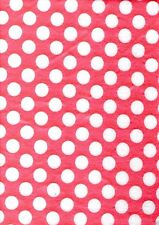 Polka Dot Craft Felt A4 Rectangles 23x30cm Acrylic - PINK & WHITE DOTS