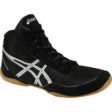 Asics Matflex 5 GS Kids Wrestling Shoe  Black-Silver
