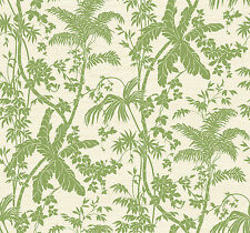 """York Wallcoverings Brights 27' x 27"""" Palm Shadow Floral Roll Wallpaper"""