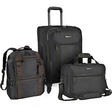 St Augustine 3pc Carry-on Nylon Expandable Spinner Backpack Tote Bag Luggage Set