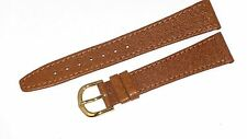 WATCH BAND BROWN GENUINE LEATHER 18MM, 16MM