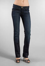 HUDSON Carly Straight Jeans Rinsed Indigo w Flap Back Pocket 25 NWT $159 W429DHA