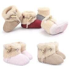 Baby Newborn Girl Boy Soft Sole Booties Snow Boots Infant Toddler Crib Shoe New