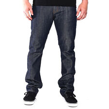 Good Denim Co Straight Fit Slim Denim Jeans (Raw Indigo) Men's 5 Pocket Pants