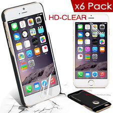 6x HD Clear Films+ Fashion Metallic Impact Armor Hard Case Cover F iPhone 6 Plus