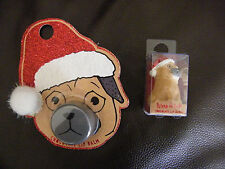 PRIMARK PUG DOG LIP GLOSS 3D CHRISTMAS PUG DOG STOCKING FILLER BNIP 2 DESIGNS