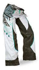FLY Racing Kinetic Girls 2015 MX/Offroad Boot Cut Pants Teal/White