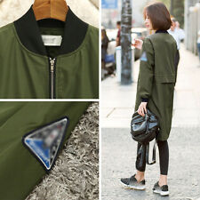 Womens Baseball Coats Dust Coat Loose Jacket Casual Wind Coat Trench Outerwear