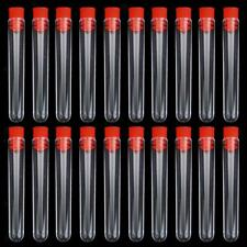 20pcs Non-Graduated Plastic Test Tubes Laboratory Test Tool Sample Containers