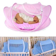 Easy Time Baby Tent bed Foldable Crib Mosquito Net Pillow Cotton-padded Bed