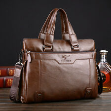 New Business Mens Briefcase Laptop Leather Bag Shoulder Messenger Handbag