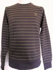 BEN SHERMAN Men's Raglan Sleeve Sweat Shirt Top Cotton Color: Brown Size: Small