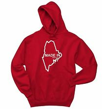 Made In Maine Funny Hoodie Crewneck Sweatshirt Home State Pride Holiday Gift