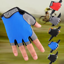Cycling Bicycle Bike Motorcycle Silicone Half Finger Fingerless Gloves Mitts New