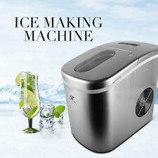 Portable Countertop Ice Maker Stainless Ice Machine 26 lbs./Day with LED Control