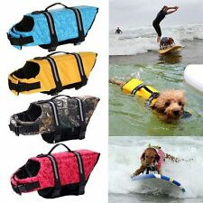 Pet Safety Vest Dog Life Jacket Preserver Puppy XS S M L XL Large Swimming New