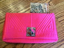 LuLu Townsend Hot Pink Quilted Evening Bag/Clutch