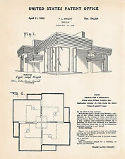 1939 Frank Lloyd Wright House Dwelling Gifts For Architects Patent Art Print