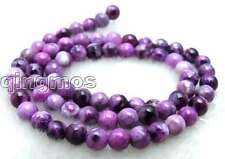"Beautiful Small 6mm Round Purple natural stone Beads strand 15""-los427 Free ship"