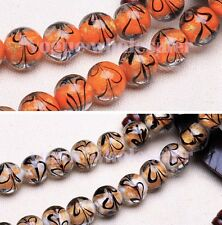 5/10pcs 14mm Round Lampwork Crystal Loose Spacer Glass Beads Charms Fit Jewery