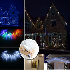 10M 40 LED Icicle Lights Frozen Ice Icicle Drop Effect Christmas Xmas Fairy Lamp