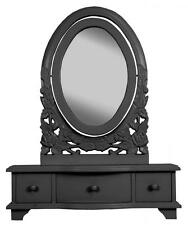 Black ADJUSTABLE DRESSING TABLE MIRROR French style belgravia shabby/chic