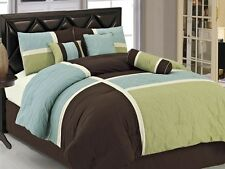 7-Piece Quilted Patchwork Comforter Set Bed-In-A-Bag (6 Colors)