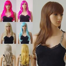 S-noilite Fashion Halloween Cosplay Costume Wigs Purple Orange Pink Red Full Wig