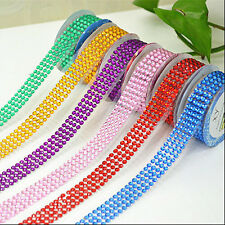 DIY Scrapbooking Craft Sticker Tape Self-Adhesive Stick On Acrylic Rhinestones